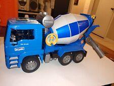 Bruder MAN TGA Cement Mixer Collection Blue Toy Car Model 1/16 1:16 Excellent
