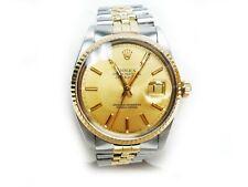 Rolex Datejust 36mm 16013 14K Gold & SS Champagne Dial Jubilee Bracelet Watch