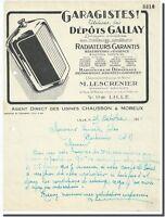 Carta - M.Lescrenier Radiador Pantuflas & Melanson a Lille 1931