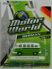 VW Samba Van Bus T1 green white 1:64 Greenlight motor world series