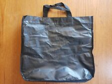 Lululemon Tote Bag Button Closure Man's Mind Quote Black Reusable carryall Rare