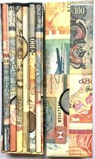EXCELLENT ASSORTED WORLD CURRENCY DESIGNED 12 LEAD PENCILS SET ~ NEW CONDITION
