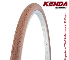 "Copertone Kenda 700x35 = 28x1-3/8x1-5/8 Kwest Marrone per bici 28"" Single Speed"