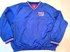 Vtg. Nfl New York Ny Giants Nylon Pull Over Lined Windbreaker Jacket Xl Side Zip