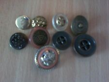9 assorted metal buttons  from 13mm to 20mm diameter Freepost in UK