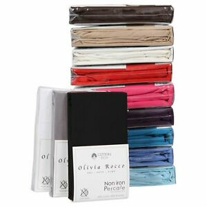 "Percale Extra Deep Fitted Sheet , Non iron , 180 TC , 12"" (30cm) Box"