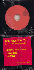 Ben Folds Fun DVD Landed Jesusland Bastard Music Videos Jesus Land NEW Five 5