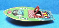 Vintage Small Tin Toy Speedboat  Free Shipping