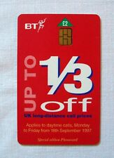 £2 BT (British Telecom) Advertising Phonecard w/ Microchip (Used)