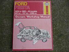 FORD FIESTA MK1 1976 - 1980 All Models 957-1117-1298 HAYNES  MANUAL FREEPOST