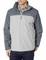 Columbia Men's Glennaker Lake Lined Rain Jacket, Waterproof &, Grey, Size Large