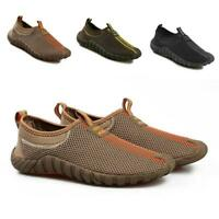 Outdoor Slip on Mesh Sneakers Mens Running Shoes Hiking Loafers Walking Casual