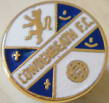 COWDENBEATH FC Vintage club crest type badge Brooch pin in gilt 17mm x 17mm