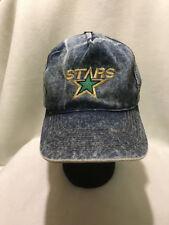 Vtg Dallas Stars NHL Denim Jean Snapback Hat Cap