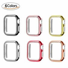 Dual Diamond PC Protective Cover Case for Apple Watch Series 5 4 3 2 1