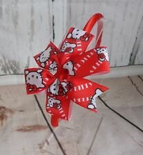 Girls Kids Children Alice Style Bands Headbands Red Hello Kitty Bow