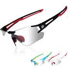 ROCKBROS Cycling Bike Photochromatic Rimless Sunglasses UV400 Bicycle Goggles