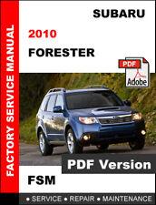 2010 SUBARU FORESTER WORKSHOP OEM SERVICE REPAIR FACTORY MANUAL