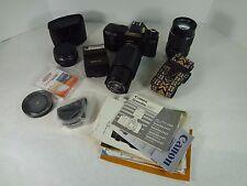 CANON T50 35mm Programmed Automation Camera Bundle W/macro Zoom, Flash & Combo