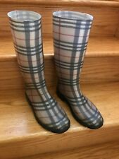 Burberry Checkered Plastic Rain boots Sz 38