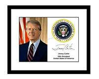 Jimmy Carter 8x10 Signed photo official presidential seal US president democrat