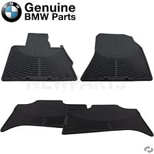 For E53 X5 00-06 Set of Front & Rear Floor Mat Sets Black All Weather Genuine