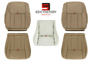 For 1996 - 2002 Toyota 4Runner Front Driver Passenger Leather Seat Cover Oak Tan