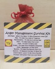 Anger Management Survival Kit - Unique Fun Novelty Gift & Card All In One