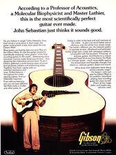 "1977 John Sebastian photo ""Scientifically Perfect"" Gibson Mark Guitar print ad"