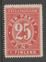 Finland Railroad tax revenue cinderella fiscal stamp 4-10 - used