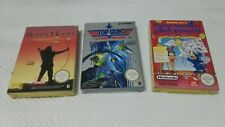 Lotto 3 Giochi Nes Pal B Robin Hood Trick Shooting Top Gun New nuovi completi