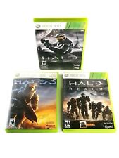 Halo: Combat Evolved - Anniversary Edition, 3 and Reach (Microsoft Xbox 360) LOT