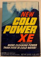 Vintage 1970s Unopened Box Of New Cold Power Detergent 1 Lb 4 Oz Iconic Graphics