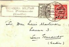 Spain LOCAL POST Cover CADIZ San Fernando Spanish Civil War Censor 1937 FC121