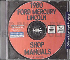1980 Ford Mercury Shop Manual on CD Mustang Capri Granada Pinto Thunderbird LTD