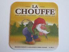 Beer Coaster ~ Brasserie D'Achouffe La Chouffe Bllonde Biere ~ Wibrin, BELGIUM