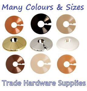 Radiator Pipe Collars Plastic Covers  Many Colours & Sizes