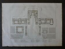 ARCHITECTURE-CHATEAU DE VERSAILLES-RDC-HIBON,PERCIER&FONTAINE-GRAV.ORIG.XIXE