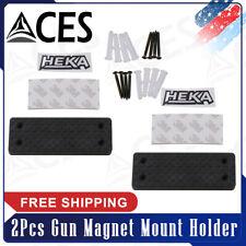 2Pcs Gun Magnet Mount Holder Gun Magnet Firearm Accessories to Use in Car, Safe
