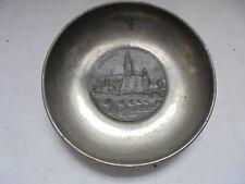 27907 Souvenir Teller REGENSBURG Messerschmidt Zinn Blei 16 cm