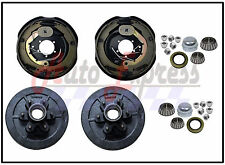 "Set of Trailer 6 on 5.5"" Hub Drum Kits W/ 12""x2"" Electric Brakes 5200-6000 lbs"