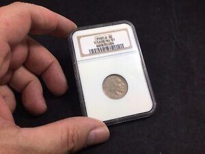 1937-d 3 legged 5c Buffalo Nickel NGC AU 50