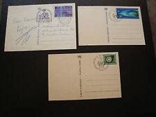 LAS NACIONES UNIDAS postal- ginebra 3 folios entero 1969 1977 cy9 united NATIONS