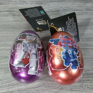 Transformers G1 Metal Easter Egg Tin, Megatron and Optimus Prime Rare~New~Sealed