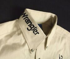 Wrangler Western Shirt Beige Painted Desert 15 x 33 Texas Stampede MP3482T NWT