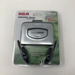 RCA Personal Stereo Cassette Player RP-1804 Bass Boost NEW Sealed