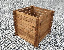 Hochbeet Kompostbehälter Holzkomposter Komposter 85x85x75cm Imprägniert HOLZ XL