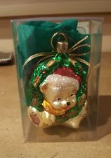 Old world christmas Birgit ornaments heidi hanging the wreath Teddy Bear in Box