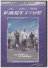 FAST & FURIOUS 5 FAST FIVE (DVD, 2011, Rated/Unrated) NEW