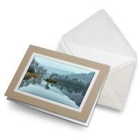 Greetings Card (Biege) - Rydal Water Lake District England  #16176